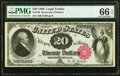 Large Size:Legal Tender Notes, Fr. 140 $20 1880 Legal Tender PMG Gem Uncirculated 66 EPQ.. ...
