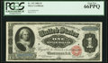 Large Size:Silver Certificates, Fr. 215 $1 1886 Silver Certificate PCGS Gem New 66PPQ.. ...