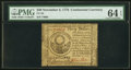 Colonial Notes:Continental Congress Issues, Continental Currency November 2, 1776 $30 PMG Choice Uncirculated 64 EPQ.. ...