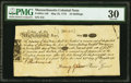 Massachusetts May 25, 1775 16s PMG Very Fine 30