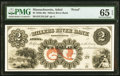 Obsoletes By State:Massachusetts, Athol, MA- Millers River Bank $2 18__ as G4 Proof PMG Gem Uncirculated 65 EPQ.. ...