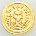 Ancients:Byzantine, Ancients: Phocas (AD 602-610). AV solidus (21mm, 4.26 gm, 7h). AU, clipped....