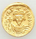 Ancients:Byzantine, Ancients: Phocas (AD 602-610). AV solidus (19mm, 4.08 gm, 7h). AU, clipped, graffito....