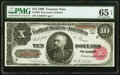 Large Size:Treasury Notes, Fr. 368 $10 1890 Treasury Note PMG Gem Uncirculated 65 EPQ.. ...