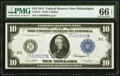 Large Size:Federal Reserve Notes, Fr. 915c $10 1914 Federal Reserve Note PMG Gem Uncirculated 66 EPQ.. ...