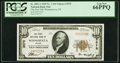 National Bank Notes:Nevada, Winnemucca, NV - $10 1929 Ty. 1 The First National Bank Ch. # 3575 PCGS Gem New 66PPQ.. ...