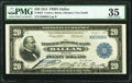 Fr. 828 $20 1915 Federal Reserve Bank Note PMG Choice Very Fine 35