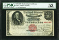 Fr. 214 $10 1879 Refunding Certificate PMG About Uncirculated 53