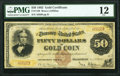 Large Size:Gold Certificates, Fr. 1188 $50 1882 Gold Certificate PMG Fine 12.. ...
