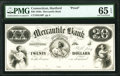 Obsoletes By State:Connecticut, Hartford, CT- Mercantile Bank $20 185_ as G40b Proof PMG Gem Uncirculated 65 EPQ.. ...
