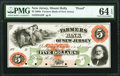 Obsoletes By State:New Jersey, Mount Holly, NJ- Farmers Bank of New Jersey $5 18__ as G32 Proof PMG Choice Uncirculated 64 EPQ.. ...