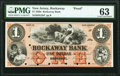 Obsoletes By State:New Jersey, Rockaway, NJ- Rockaway Bank $1 May 1, 1858 as G2b Proof PMG Choice Uncirculated 63.. ...