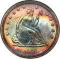Proof Seated Quarters, 1860 25C PR67★ NGC....