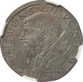 Italy: Papal States. Clement VII Double Carlino ND (1523-1534) XF45 NGC
