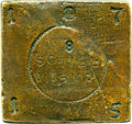 German States, German States: Wismar. Swedish Administration - Karl XII gun-metal Siege Plate Money 8 Schilling 1715 AU (Reverse Scratches), ...