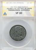Ancients:Roman Imperial, Julian II, as Augustus (AD 360-363). AE maiorina (28mm, 6h...