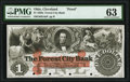 Obsoletes By State:Ohio, Cleveland, OH- Forest City Bank $1 18__ G4a Wolka 0732-03 Proof PMG Choice Uncirculated 63.. ...