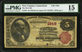 National Bank Notes:Connecticut, New Canaan, CT - $5 1882 Brown Back Fr. 467 The First National Bank Ch. # 1249 PMG Choice Fine 15.. ...