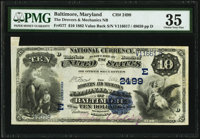 Baltimore, MD - $10 1882 Value Back Fr. 577 The Drovers & Mechanics National Bank Ch. # 2499 PMG Choice