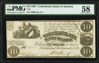 T28 $10 1861 PMG Choice About Unc 58