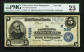 Claremont, NH - $5 1902 Plain Back Fr. 598 The Claremont National Bank Ch. # (N)596 PMG Very Fine 25