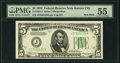 Micro Back Plate Number 637 Non-mule Fr. 1955-J $5 1934 Federal Reserve Note. PMG About Uncirculated 55
