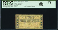 Baton Rouge, LA- Parish of East Baton Rouge 5¢ Oct. 9, 1862 PCGS Fine 15