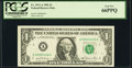 Fr. 1911-A $1 1981 Federal Reserve Note. PCGS Gem New 66PPQ