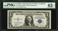 """Small Size:Silver Certificates, Fr. 1610 $1 1935A """"S"""" Silver Certificate. PMG Choice Uncirculated 63 EPQ.. ..."""