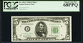 Fr. 1961-I $5 1950 Federal Reserve Note. PCGS Superb Gem New 68PPQ