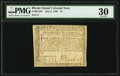 Colonial Notes:Rhode Island, Rhode Island July 2, 1780 $7 PMG Very Fine 30.. ...