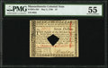 Massachusetts May 5, 1780 $7 PMG About Uncirculated 55