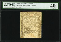 Connecticut July 1, 1780 1s PMG Extremely Fine 40