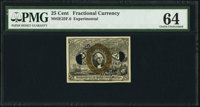 Milton 2E25F.6 25¢ Second Issue Experimental PMG Choice Uncirculated 64