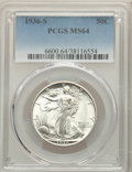 1936-S 50C MS64 PCGS. PCGS Population: (829/1176). NGC Census: (469/623). CDN: $220 Whsle. Bid for problem-free NGC/PCGS...