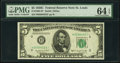 Small Size:Federal Reserve Notes, Fr. 1964-H* $5 1950C Federal Reserve Note. PMG Choice Uncirculated 64 EPQ.. ...