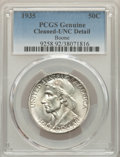 1935 50C Boone -- Cleaned -- PCGS Genuine. Unc Details. NGC Census: (0/1207). PCGS Population: (3/1857). CDN: $110 Whsle...
