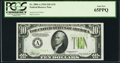 Fr. 2004-A $10 1934 Light Green Seal Federal Reserve Note. PCGS Gem New 65PPQ