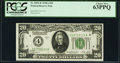Fr. 2051-D $20 1928A Federal Reserve Note. PCGS Choice New 63PPQ