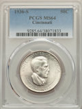 1936-S 50C Cincinnati MS64 PCGS. PCGS Population: (772/427). NGC Census: (541/221). CDN: $300 Whsle. Bid for problem-fre...