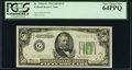 Fr. 2102-G $50 1934 Federal Reserve Note. PCGS Very Choice New 64PPQ