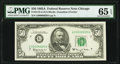 Low Serial Number Fr. 2113-G $50 1963A Federal Reserve Note. PMG Gem Uncirculated 65 EPQ