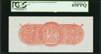 $10 Chemicograph Back Intended for Confederate Currency Fourth Printing ND (1957-58) Bertram C468a PCGS Superb Gem New 6...