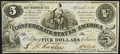 Confederate Notes:1861 Issues, CT36/278A Counterfeit $5 1861 PF-4 Cr. 278 Crisp Uncirculated.. ...