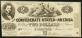 Confederate Notes:1862 Issues, T42 $2 1862 PF-1 Cr. 334 About Uncirculated.. ...