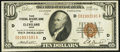 Fr. 1860-D $10 1929 Federal Reserve Bank Note. Extremely Fine-About Uncirculated
