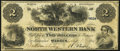 Obsoletes By State:Pennsylvania, Warren, PA- North Western Bank $2 Aug. 1, 1861 Fine-Very Fine.. ...