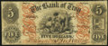 Obsoletes By State:New York, Troy, NY- Bank of Troy $5 Jan. 1, 1857 G188a Fine.. ...