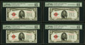 Small Size:Legal Tender Notes, Reverse Changeover Pair Fr. 1526/1525 $5 1928A/1928 Legal Tender Notes. PMG Gem Uncirculated 65 EPQ; Choice Uncirculated 64 EP... (Total: 4 notes)