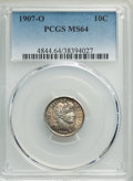 1907-O 10C MS64 PCGS. PCGS Population: (46/37). NGC Census: (33/37). CDN: $390 Whsle. Bid for problem-free NGC/PCGS MS64...